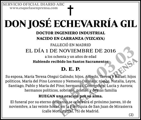 José Echevarría Gil